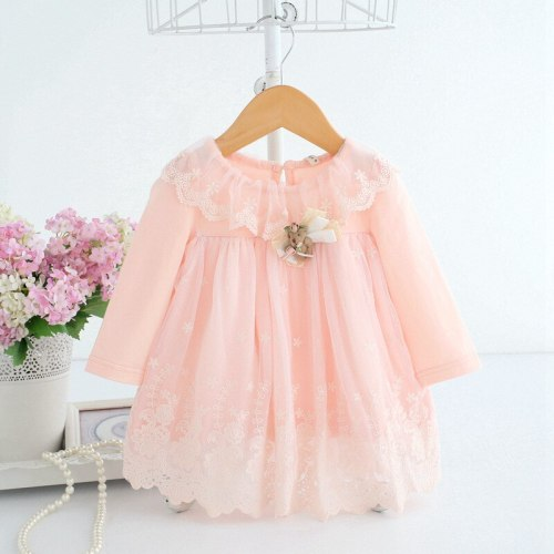 Baby Girls Princess Dress For Newborn Infant Clothing Cute Cotton Long Sleeve Baby Dress