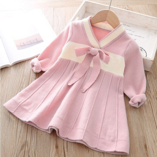 Girls Sweater Dress Long Sleeve Knit Dress Princess Of The Little Girl