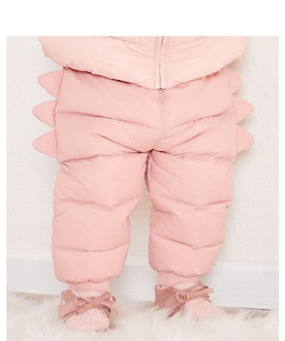Baby Child Duck Down Windproof Pants Children's Wear Toddler Kids Winter Clothing Warm Thick Trousers