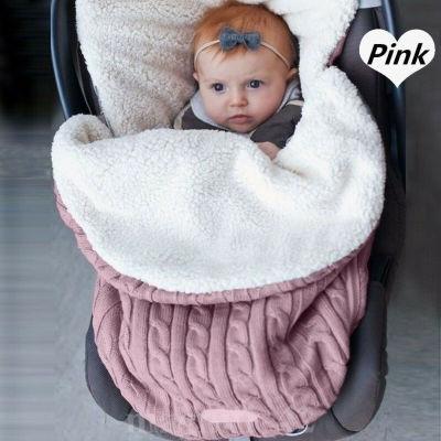 Baby Sleeping Bags Baby Footmuff Liner Pushchair Stroller Cosy Toes Car Seat Knitted Fuzzy Warm Sleepwear