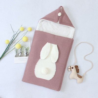 Baby Sleeping Bag Newborn Envelope Infant Winter Knitted Sleeping Bag Baby Hooded Anti-kick Blanket