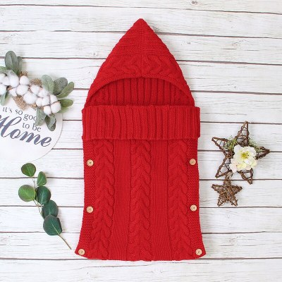 Newborn Clothes Infant Knitted Sleeping Bags Baby Blanket Soft Baby Envelope For Statement