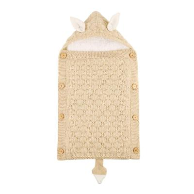 Newborns Stroller Sleeping Bag Baby Envelope Knitted Swaddle Footmuff Sleepsack Infant Sleep Bed Sacks