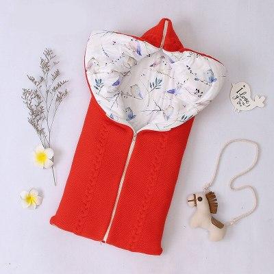 Newborn Baby Warm Sleeping Bags Infant Knit Swaddle Wrap Swaddling Stroller Wrap Baby Blanket