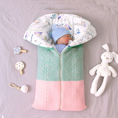 Newborn Baby Warm Sleeping Bags Infant Knit Swaddle Wrap Swaddling Stroller Wrap Baby Blanket