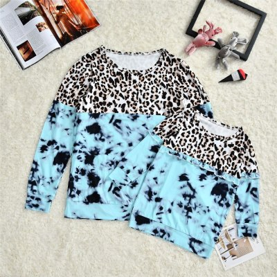 Mother And Daughter Leopard Printed Matching Sweatshirt Mommy And Me Clothes Family look outfits