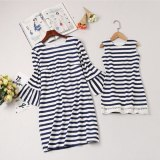Mother Daughter Dresses Girls Kid Mom Sleeveless Striped Dress Mommy And Me Family Matching Outfits Family Look