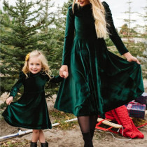 Mother daughter dress full sleeve mommy and me dresses clothes family matching outfits look