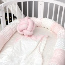 Newborn Bed Crib Bumper Long Pillow For Toddler Sleeping Cushion Cot Fence