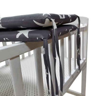 Baby nursery Nordic Stars Design Baby Bed Thicken Bumper One-piece Crib Around Cushion Cot Protector Pillows