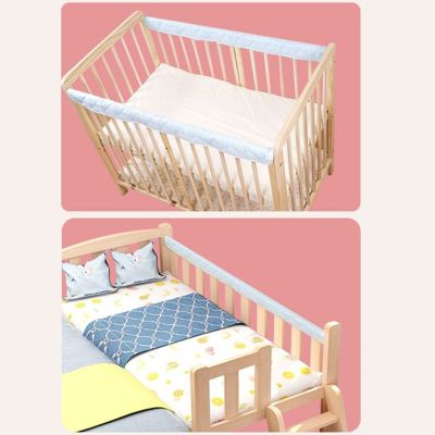 Padded Baby Crib Rail Cover Cradle Anti-bite Protector Safe Teething Guard Wrap