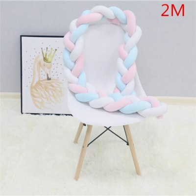 Baby Bumper Bed Braid Knot Pillow Cushion Bumper for Infant Bebe Crib Protector Cot Bumper
