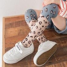 Girl Mesh Socks 4-9 Years Old Cotton Long Leopard Princess Knee Socks Kids Dance Socks