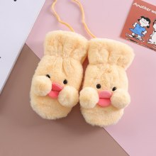 Winter Warm Soft False Fur Children's Gloves Cute Cartoon Gloves Mittern Velvet Thick Glove