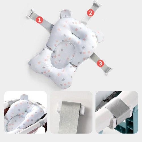 Baby Shower Bath Tub Pad Non-Slip Bathtub Mat Newborn Safety Nursing Security Bath Support Cushion Mat Pillow