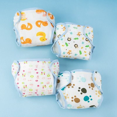 Baby Cotton Training Pants Panties Baby Diapers Reusable Cloth Diaper Nappies Washable Nappy Changing