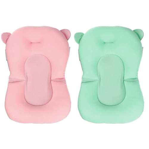 Portable Newborn Bath Seat Support Mat Baby Bath Pad Chair Safety Pillow Infant Anti-Slip Comfort Bath Cushion Mat