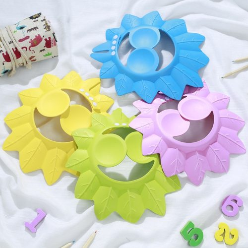 Baby Shampoo Cap Adjustable Newborn Sun Visor Shower Cap Cute Toddler Bath Supplies
