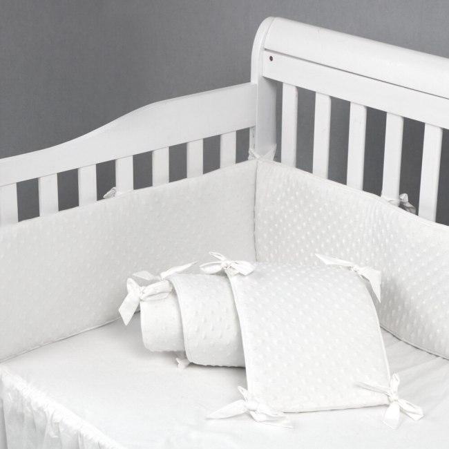 Pure color Baby crib bedding Filling 100% cotton baby crib bumper