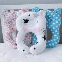 Concave Baby Pillow Neck Head Baby Kids Pillows Soft Cotton Sleep Cushion Anti Roll Dropship