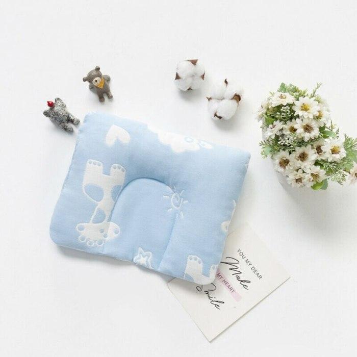 Baby Memory Pillow Newborn Foam Positioner Prevent Flat Head Anti Roll Infant U Shaper Pillows