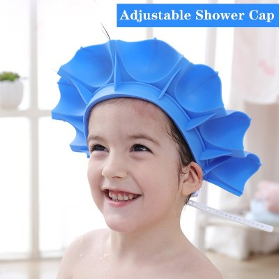 Baby Shower Shampoo Cap Kids Wash Hair&Bath Visor Hats Adjustable Shield Silicone Waterproof Protection Ear Eyes