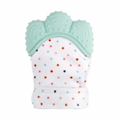 Newborn Safe Silicone Baby Gloves Mitt Teething Candy Wrapper Sound Teether Mittens Bite Training Gloves