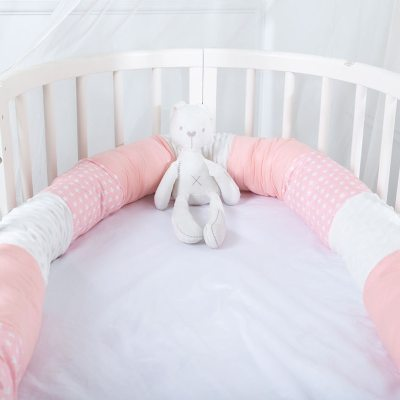 Baby Bed Bumper Safe Long Pillow Anti-collision Cot Pillow Crib Bumper Protector Room Decor