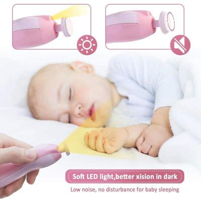 Safety Electric Baby Nail File Clippers Toes Fingernail Cutter Trimmer Manicure Pedicure Care Tool Set