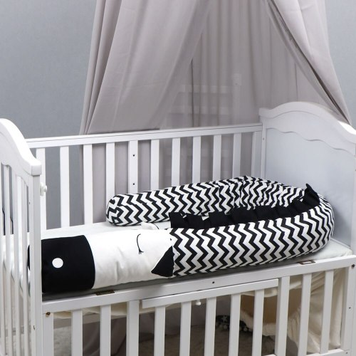 Creative Crocodile Plush Pillows Crib Bumper Pads Baby Crib Liner Cartoon Animal Pillows