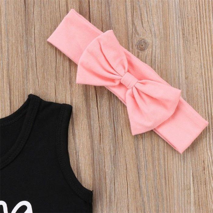 Toddler Kid Baby Girl Summer Top T-shirt+Short Pants Outfit Set Clothes 3pcs Set