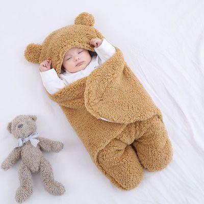 Baby Sleeping Bag Ultra-Soft Fluffy Fleece Newborn Receiving Blanket Infant Sleeping Nursery Wrap Swaddle