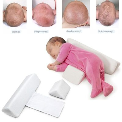 Newborn Baby Shaping Styling Pillow Anti-rollover Side Sleeping Pillow Triangle Baby Positioning Pillow