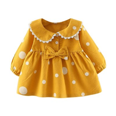 Kids Baby Girl Children Clothes Long Flare Sleeve Print Dress Princess Dresses Girls Outfits