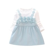 Dress Infant Baby Clothes Girl Lace Princess Party Long Sleeve Dress Baby Girls Dresses 6M- 3T