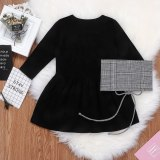 1-6Y Kids Baby Long Sleeve Letter Dress Outfits Set Cute Girls Dress