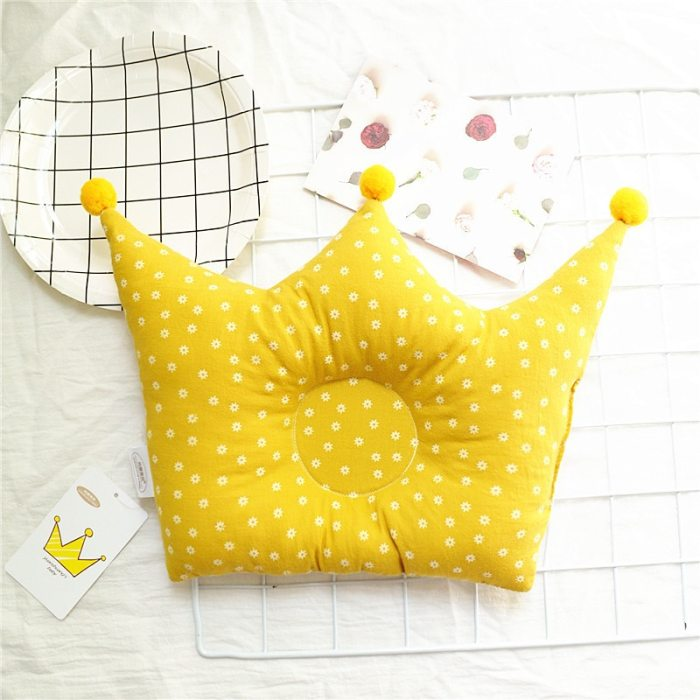 Baby Shaping Pillow Prevent Flat Head Infants Crown Dot Bedding Pillows Room Decoration Accessories