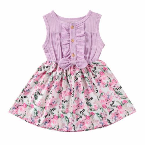 Baby Girls Princess Dress Girl Sleeveless Party Sundress Clothes Elegant Kids Dress