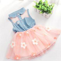 Baby Dress New 2020 Summer Children's Floral Striped Cartoon Strap Girl Princess Dresses