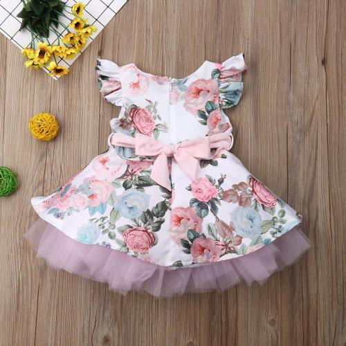 Princess Toddler Newborn Baby Girls Dress Flower Lace Party Dress For Girls Summer Baby Girl Clothing
