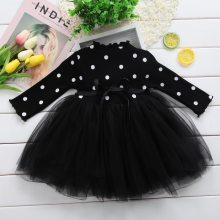 Princess Baby Girl Dress Newborn Infant Baby Girl Clothes Bow Dot Gown Party Dresses Baby Kid