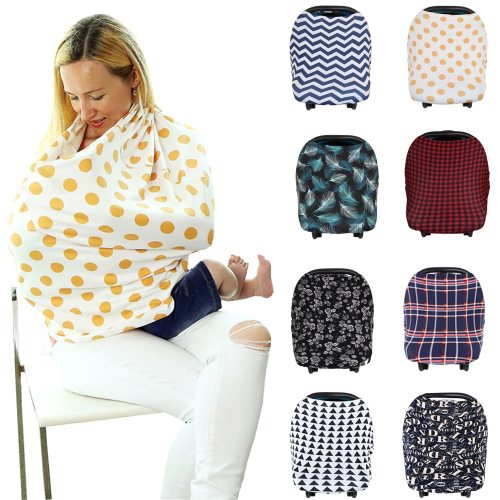 Nursing Breastfeeding Privacy Cover Baby Scarf Infant Car Seat Stroller Breast Feeding Scarf Nursing Covers