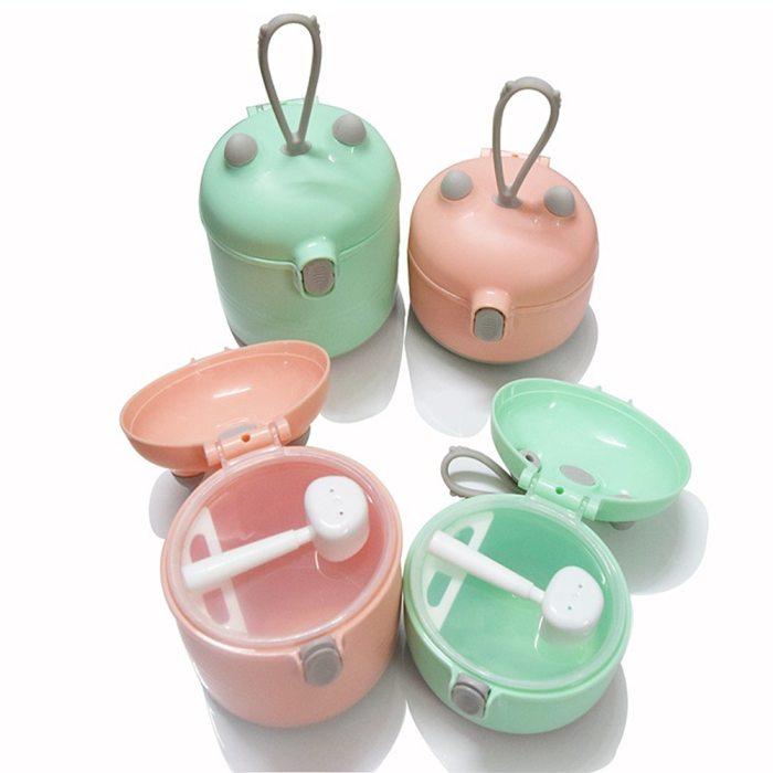 Baby milk powder box portable milk powder box baby subdivided box milk powder grid box