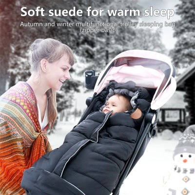 Baby Stroller Sleeping Bag Winter Warm Envelopes For Newborn Thicken Stroller Sleepsacks Windproof Envelopes Sleep Sack Blanket