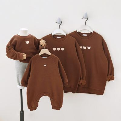 Winter Thick Parent-child Outfit with Plush Family Matching Outfits for Family of Four Sweatshirt