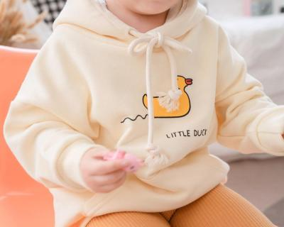 Fall Family Matching Outfits Father/Mother/kids Cartoon Duck Hoodies Family Looking Sweatshirts High Quality Couple Wear