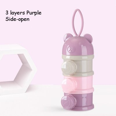Bear Style Portable Baby Food Storage Box Essential Cereal Cartoon Infant Milk Powder Box Toddle Snacks Container