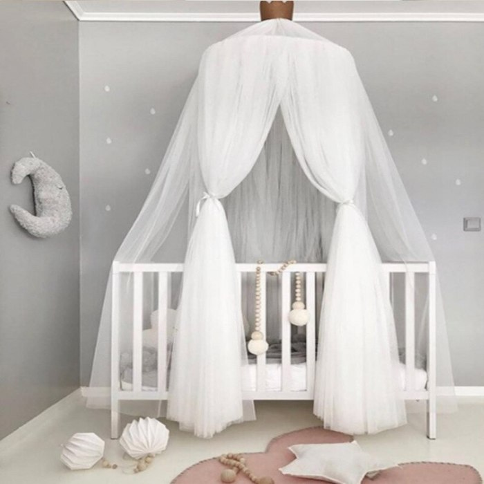 Mosquito Net Bed Curtain Baby Canopy Tent Baby Crib Netting Cot Hung Dome Girl Princess Play Tent