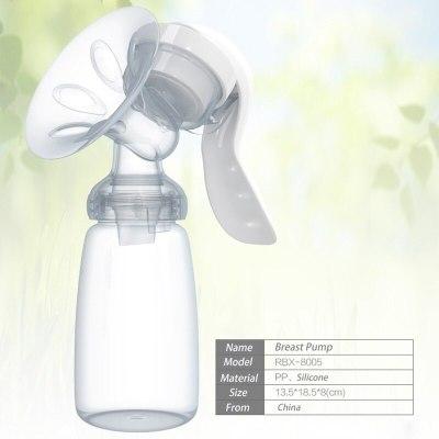 Manual Breast Pump Powerful Baby Nipple Suction 150ml Feeding Milk Bottles Sucking