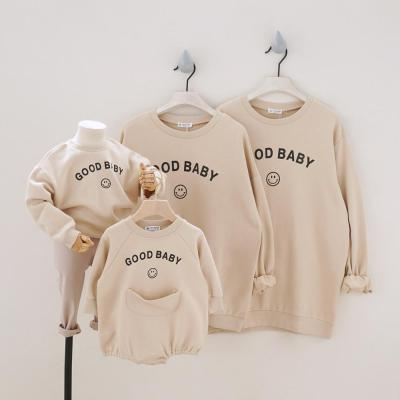 Family Matching Outfits for A Family of Four  High Quality Sweatshirt  Kids Tops/ Romper Family Looking Clothes